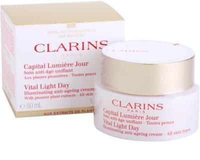 Clarins Vital Light Fiatalító és élénkítő nappali krém minden bőrtípusra 2