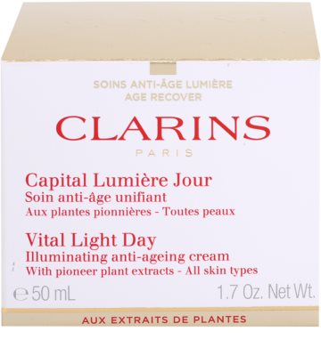 Clarins Vital Light Fiatalító és élénkítő nappali krém minden bőrtípusra 3