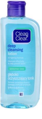 Clean & Clear Deep Cleansing płyn głęboko oczyszczający dla cery wrażliwej