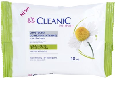 Cleanic Intimate chusteczki do higieny intymnej  z rumiankiem