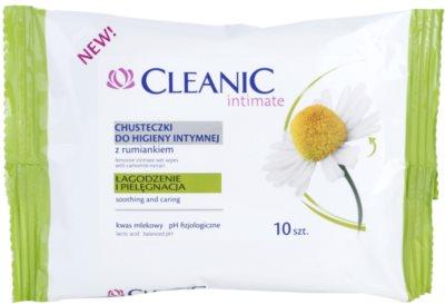 Cleanic Intimate toalhetes de higiene íntima com camomilla