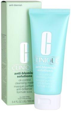 Clinique Anti - Blemish Reinigungsmaske für fettige und Mischhaut 2