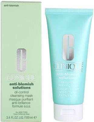 Clinique Anti - Blemish Reinigungsmaske für fettige und Mischhaut 1