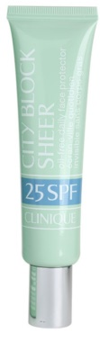 Clinique City Block Sheer Sonnencreme für alle Hauttypen, selbst für empfindliche Haut