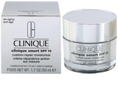 Clinique Clinique Smart feuchtigkeitsspendende Tagescreme gegen Falten für fettige Haut SPF 15 2