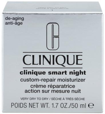 Clinique Clinique Smart nawilżający krem przeciwzmarszczkowy na noc do skóry suchej i bardzo suchej 3