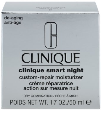 Clinique Clinique Smart creme hidratante de noite antirrugas para pele seca e mista 3