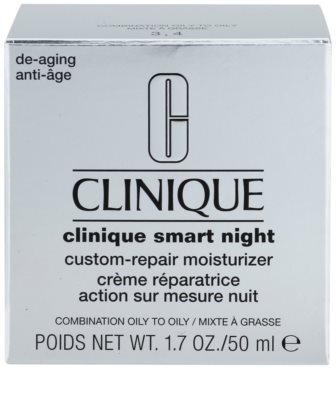 Clinique Clinique Smart creme hidratante de noite antirrugas para pele mista e oleosa 3