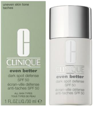 Clinique Even Better Dark Spot Defense schützende Tönungscreme gegen Pigmentflecken SPF 50 1