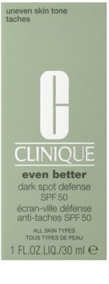 Clinique Even Better Dark Spot Defense schützende Tönungscreme gegen Pigmentflecken SPF 50 2
