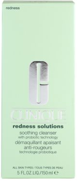 Clinique Redness Solutions gel limpiador para pieles sensibles 3
