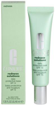 Clinique Redness Solutions creme protetor e calmante para reduzir o vermelhidão da pele 1