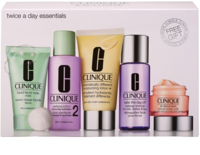Clinique Twice a Day Essentials косметичний набір I.