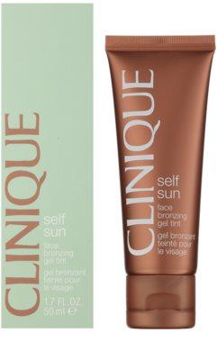 Clinique Self Sun gel crema bronzanta pentru fata 1