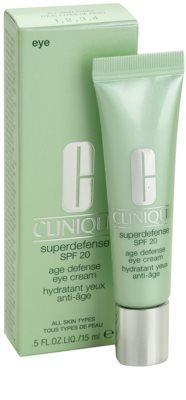 Clinique Superdefense crema iluminadora para contorno de ojos para todo tipo de pieles 1