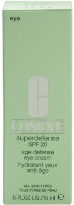 Clinique Superdefense crema iluminadora para contorno de ojos para todo tipo de pieles 3