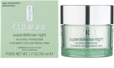 Clinique Superdefense хидратиращ нощен крем против бръчки за смесена и мазна кожа 1