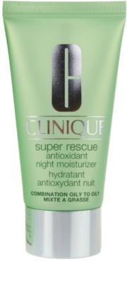 Clinique Super Rescue creme hidratante de noite para pele mista e oleosa