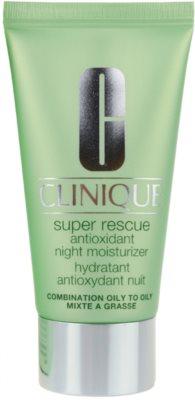 Clinique Super Rescue nočna vlažilna krema za mešano in mastno kožo