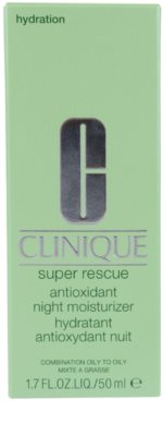 Clinique Super Rescue crema de noche hidratante para pieles mixtas y grasas 2