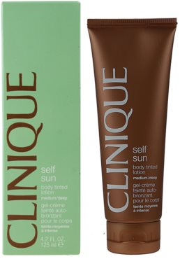 Clinique Self Sun samoopalovací tělové mléko 1