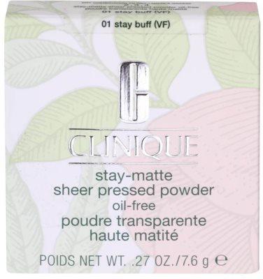 Clinique Stay Matte púder pohlcujúci lesk (mastnotu) pre mastnú pleť 3