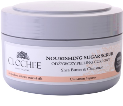 Clochee Simply Organic cukros peeling testre