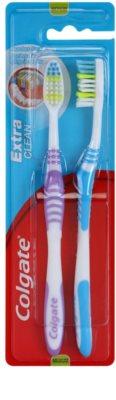 Colgate Extra Clean cepillo de dientes medio 2 uds