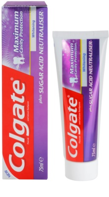 Colgate Maximum Cavity Protection Plus Sugar Acid Neutraliser pasta de dinti pentru albire 1
