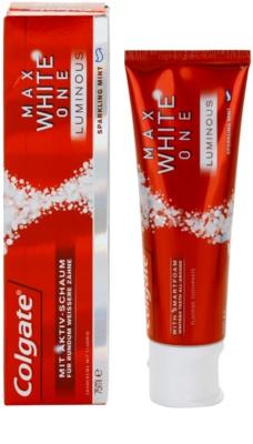 Colgate Max White One Luminous pasta do zębów dla efektu śnieżnobiałych zębów 2
