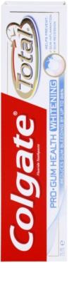 Colgate Total Pro Gum Health Whitening dentífrico com efeito branqueador para dentes e gengivas saudáveis 2