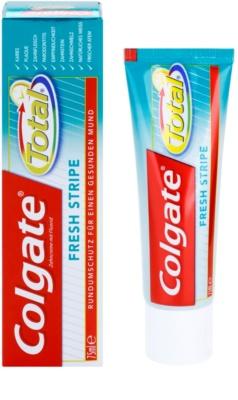 Colgate Total Fresh Stripe dentrífico para proteção completa de dentes e hálito fresco 1