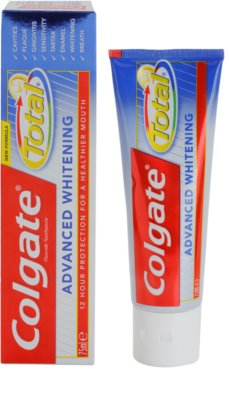 Colgate Total Advanced Whitening Zahnpasta zum vollständigen Schutz der Zähne mit bleichender Wirkung 4