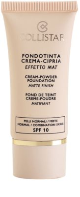 Collistar Foundation Cream-Powder krémes make-up SPF 10