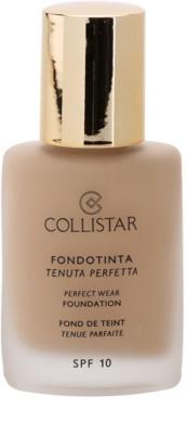 Collistar Foundation Perfect Wear maquillaje líquido resistente al agua SPF 10