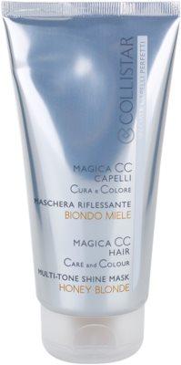 Collistar Magica CC mascarilla nutritiva con color  para cabello rubio