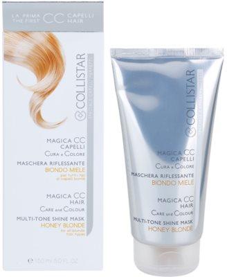 Collistar Magica CC mascarilla nutritiva con color  para cabello rubio 2