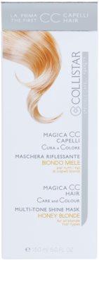 Collistar Magica CC máscara nutritiva com cor para todos os tipos de cabelo loiro 3