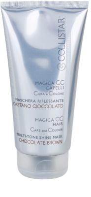 Collistar Magica CC mascarilla nutritiva con color  para cabello marrón claro y marrón oscuro