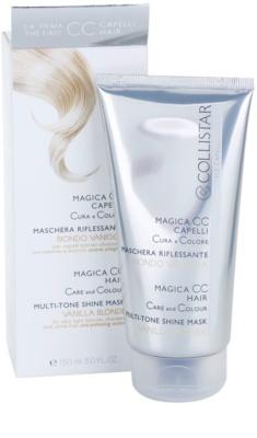 Collistar Magica CC odżywcza maseczka tonująca do włosów w odcieniu jasny blond, z pasemkami oraz siwych 1