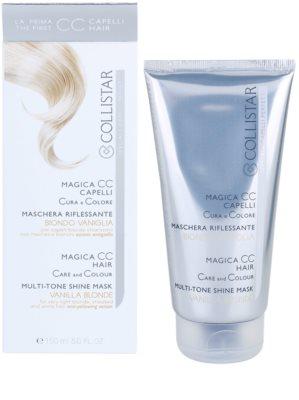 Collistar Magica CC odżywcza maseczka tonująca do włosów w odcieniu jasny blond, z pasemkami oraz siwych 2