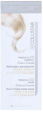 Collistar Magica CC odżywcza maseczka tonująca do włosów w odcieniu jasny blond, z pasemkami oraz siwych 3