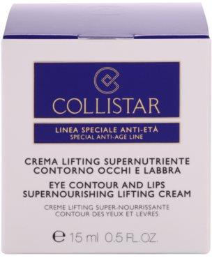Collistar Special Anti-Age поживний крем-ліфтінг для шкіри очей та губ 3