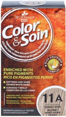 Color & Soin Blonde перманентна фарба для волосся з рослинними екстрактами