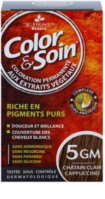 Color & Soin Brown & Chestnut Permanent-Haarfarbe mit Pflanzenextrakten