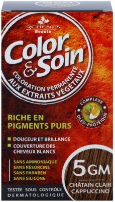 Color & Soin Brown & Chestnut перманентна фарба для волосся з рослинними екстрактами