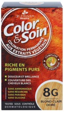 Color & Soin Golden permanentní barva na vlasy s rostlinnými extrakty
