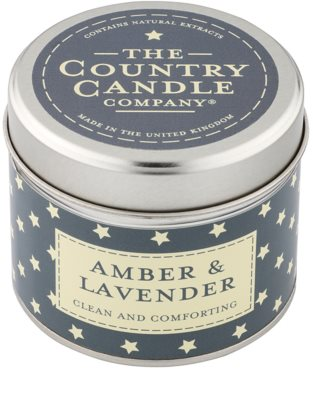 Country Candle Amber & Lavender illatos gyertya    alumínium dobozban