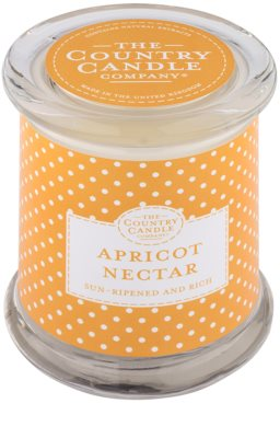 Country Candle Apricot Nectar dišeča sveča    v steklu s pokrovčkom