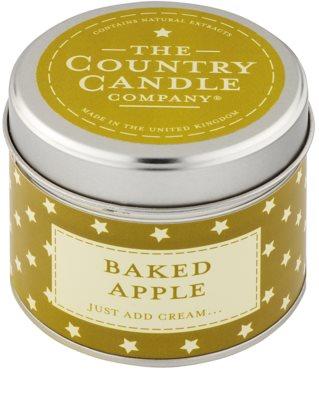 Country Candle Baked Apple vonná sviečka   v plechu